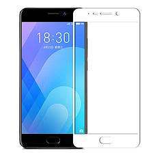 Защитное стекло для Meizu M6 Note полноэкранное белое