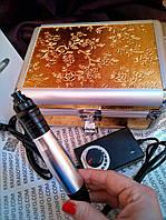 Дермаштамп профессиональный MYM 9 - ти скоростной в кейсе + 3 насадки и увлажняющая шелковая маска в подарок, фото 1