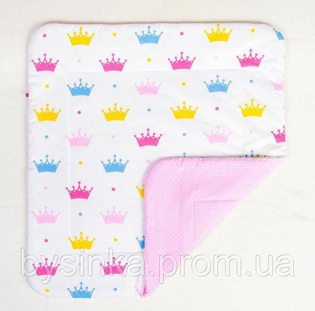 Детское хлопковое одеяло BabySoon Короны 80 х 85 см (271)