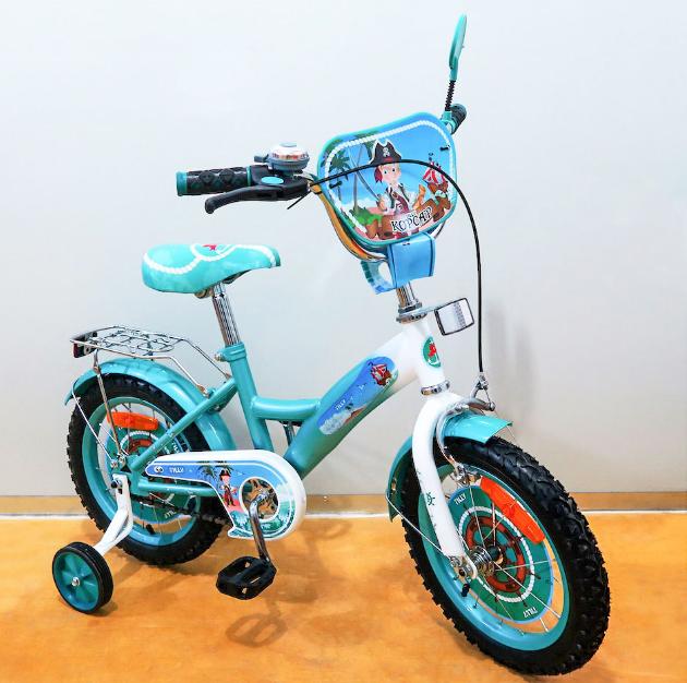 Велосипед двухколёсный детский 14 дюймов TILLY Корсар 14 T-21428 turqu