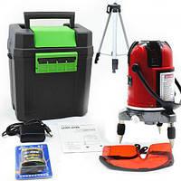 Набор профессиональный лазерный уровень нивелир 5 линий 6 точек штатив с треногой 120см