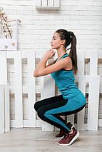 """Женский спортивный костюм для фитнеса """"WAWE"""" лосины и майка (4 цвета), фото 2"""