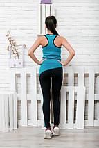 """Женский спортивный костюм для фитнеса """"WAWE"""" лосины и майка (4 цвета), фото 3"""