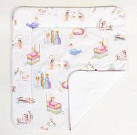 Детское хлопковое одеяло BabySoon Принцессы из сказок 80 х 85 см (274)