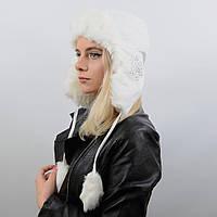 Ушанка женская 13042 белый