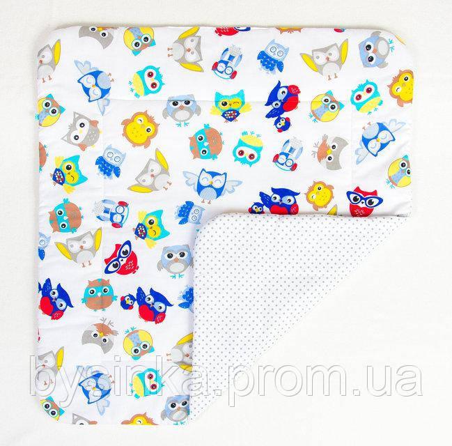 Детское хлопковое одеяло BabySoon Совы в наушниках 80 х 85 см (275)