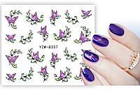 Наклейка-слайдер для ногтей YZW-8357