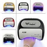 УФ лампа для нігтів сушарка 48Вт CCFL+UV LED таймер 18K, фото 5