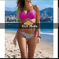 Женский купальник с каркасным верхом, в моделях