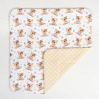 Детское хлопковое одеяло BabySoon Мишки Тедди 80 х 85 см (277)