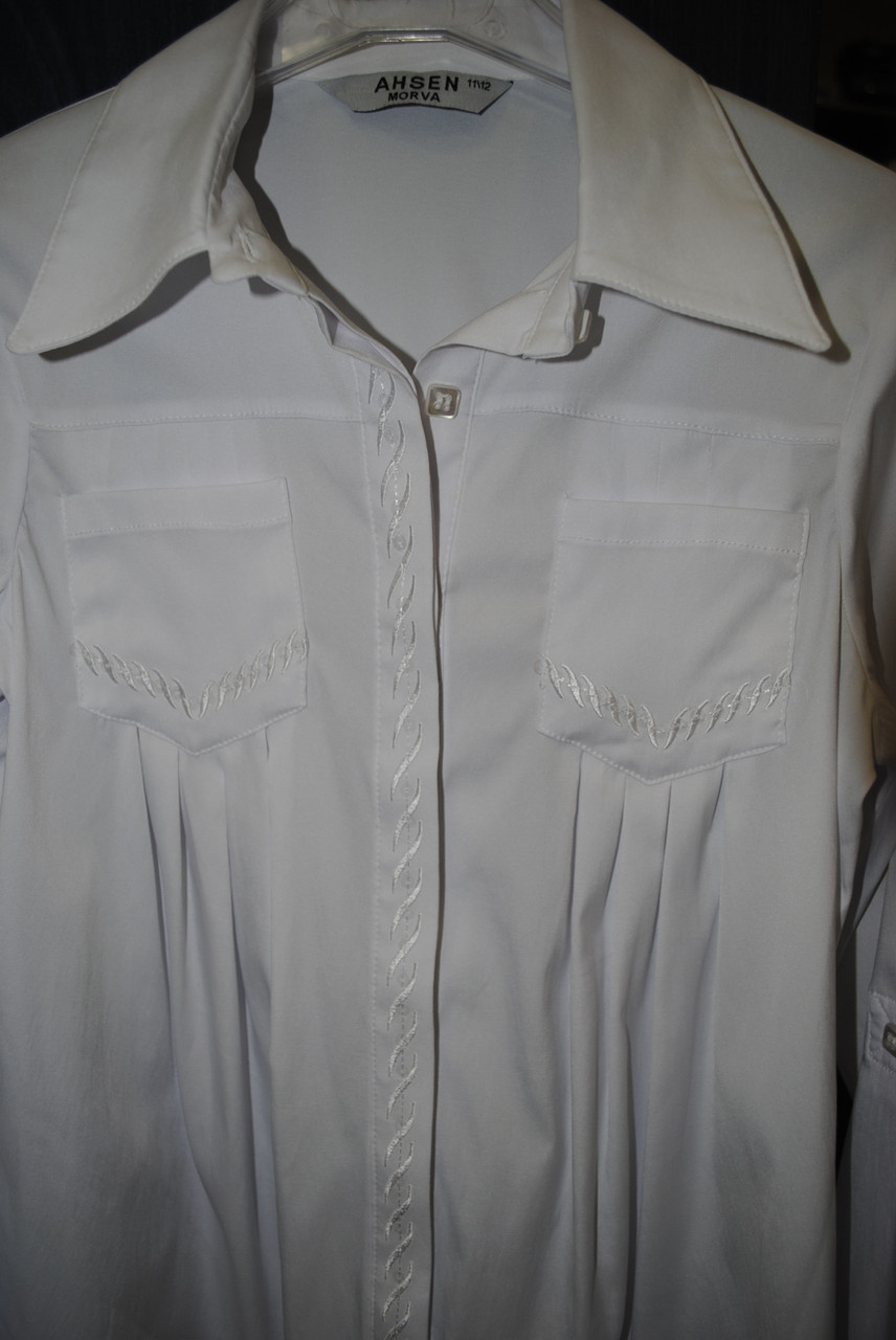 Блузка біла шкільна AHSEN MORVA 7-8 років  продажа b1d281472c103
