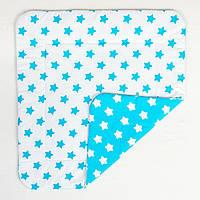 Детское хлопковое одеяло BabySoon Лазурные звезды 80 х 85 см (280)