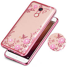 Чехол Luxury для Xiaomi Redmi Note 4X / Note 4 Global Version Ультратонкий Бампер Rose Gold