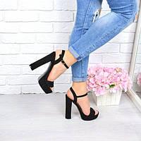 Босоножки женские Hazee черные 4347, сандалии женские