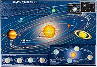 Подкладка для письма Земля в космосе А2 ламинированная 45*65 см