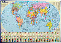 Подкладка для письма Політична карта світу М 1:51 000 000 А2 65*45 см