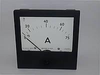 Амперметр Э365 75А  75/5А