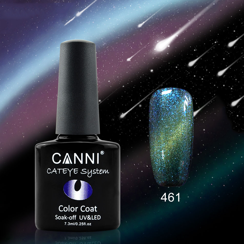 Гель-лак хамелеон Canni 461 оливковий - блакитний 7,3 ml