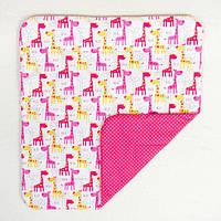 Детское хлопковое одеяло BabySoon Жирафики 80 х 85 см (283)