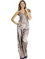 Шелковая женская пижама maxi, фото 1