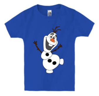 Детская футболка С ВЕСЁЛЫМ СНЕГОВИКОМ