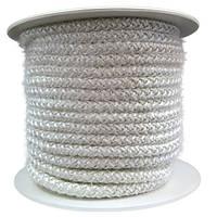 Термостойкий керамический уплотнительный шнур для герметизации двери печки буржуйки. Размер 15 на 15 мм