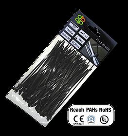 Стяжки чёрные пластиковые