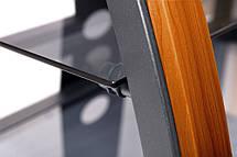 Тумба под телевизор RTV DORADO 1100 черный, с деревянными вставками, фото 3
