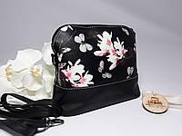 Красивая, женственная сумка с рисунком нежных цветов