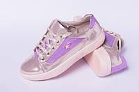 Кроссовки кожаные подростковые, детская обувь кожаная от производителя модель ДЖ7002