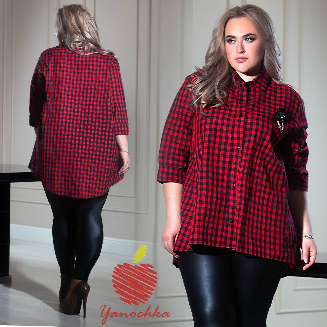 731fd6b33e4 Женская модная льняная рубашка с украшением Батал - Интернет-магазин