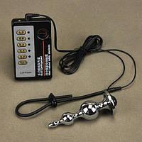 Электро-секс стимулирующая пробка + кольцо для пениса ZT080