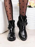 Женские кожаные ботинки LUX с пряжкой