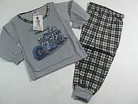 Пижама трикотажная с начёсом для мальчиков, размеры 86/92.98/104. арт. 068