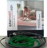 3,8 м2. Теплый пол Gray Hot нагревательный кабель