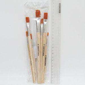 Набор кистей из волоса Синтетики, круглые и плоские-6 штук, фото 2