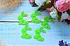 """Фетровый декор """"Зайчик мини """", 4 х 5 см,30 шт/уп, салатового цвета"""