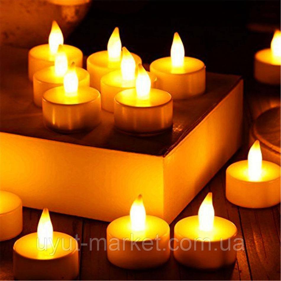 Светодиодная свеча чайная 10шт, 39х37мм - фото 7