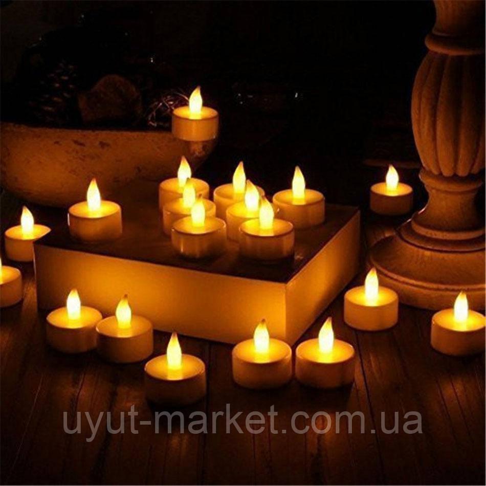 Светодиодная свеча чайная 10шт, 39х37мм - фото 6