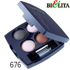 Bielita - Luxury Тени-кватро компактные микронизированные для век Тон 676