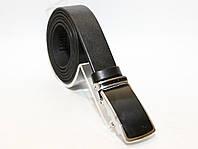 Удлиненный кожаный ремень - БАТАЛ пряжка автомат.