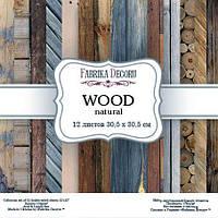 Набор бумаги Wood Natural, 30х30 см, 12 листов, фото 1