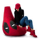 Кресло-груша «Дедпул» из ткани Оксфорд, фото 4