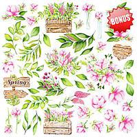Набор бумаги Spring Blossom, 30х30 см, 10 листов, фото 1