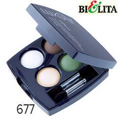 Bielita - Luxury Тени-кватро компактные микронизированные для век Тон 677