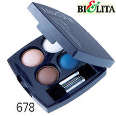 Bielita - Luxury Тени-кватро компактные микронизированные для век Тон 678