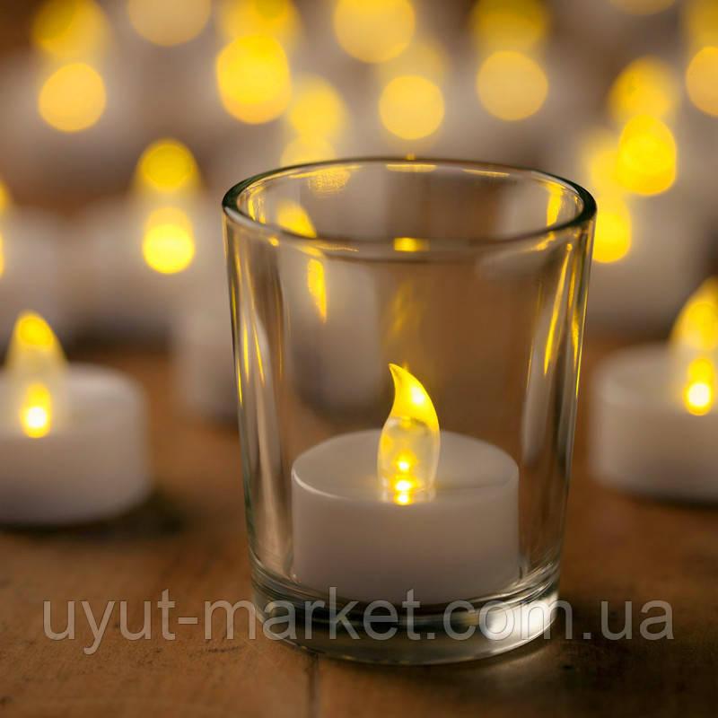 Светодиодная свеча чайная 10шт, 39х37мм - фото 5