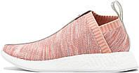 Женские кроссовки Naked x Kith x Adidas NMD Pink (Адидас НМД) розовые