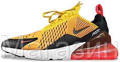 Мужские спортивные кроссовки Nike Air Max 270 Найк Аир Макс 270 оранжевые