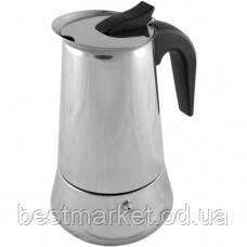 Гейзерная кофеварка на 9 чашек UNIQUE UN-1903(KPSS-9) нержав.